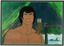 Tarzan Animated Film Cell