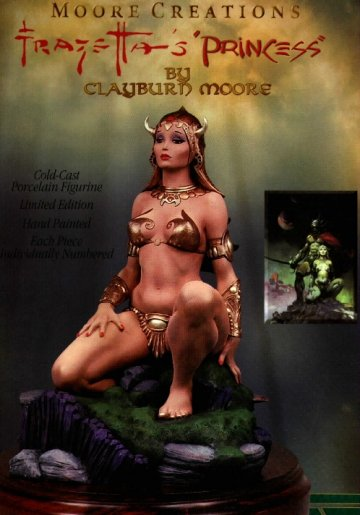 Frazetta's Princess: Statue by Clayburn Moore