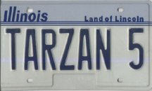 Tarzan Licence Plate
