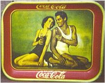 Coke Tray: Tarzan and Jane