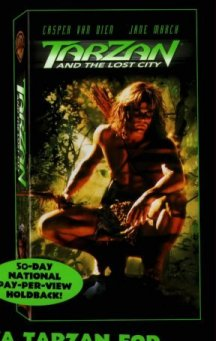 VHS jacket for Tarzan and the Lost City