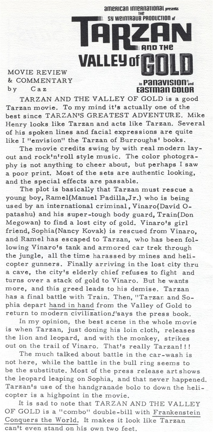 Erbzine 0210 tarzan and the valley of gold erb chaser fritz leiber obituary in the times biocorpaavc Images