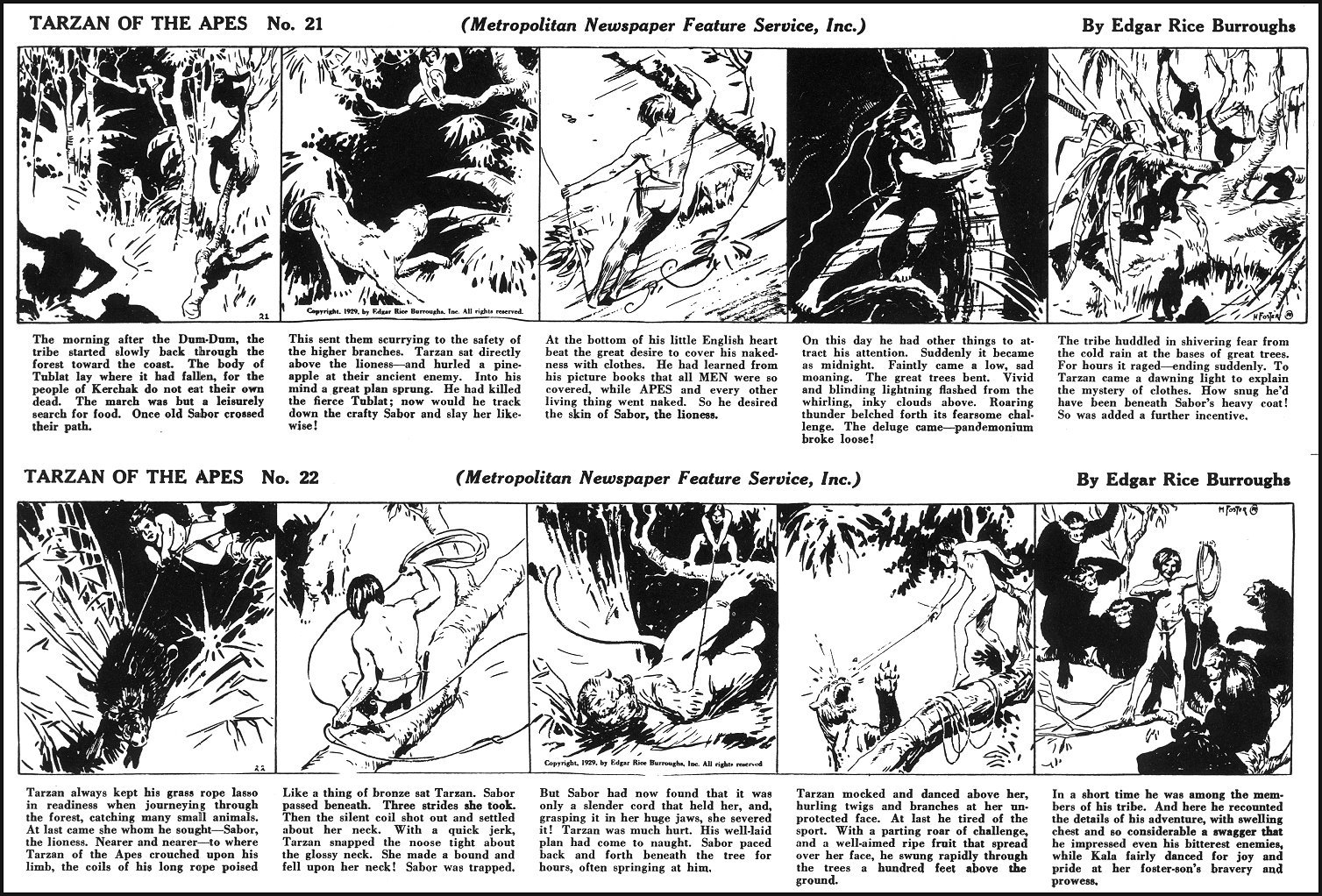 ERBzine 2390: ERB's Tarzan of the Apes by Hal Foster