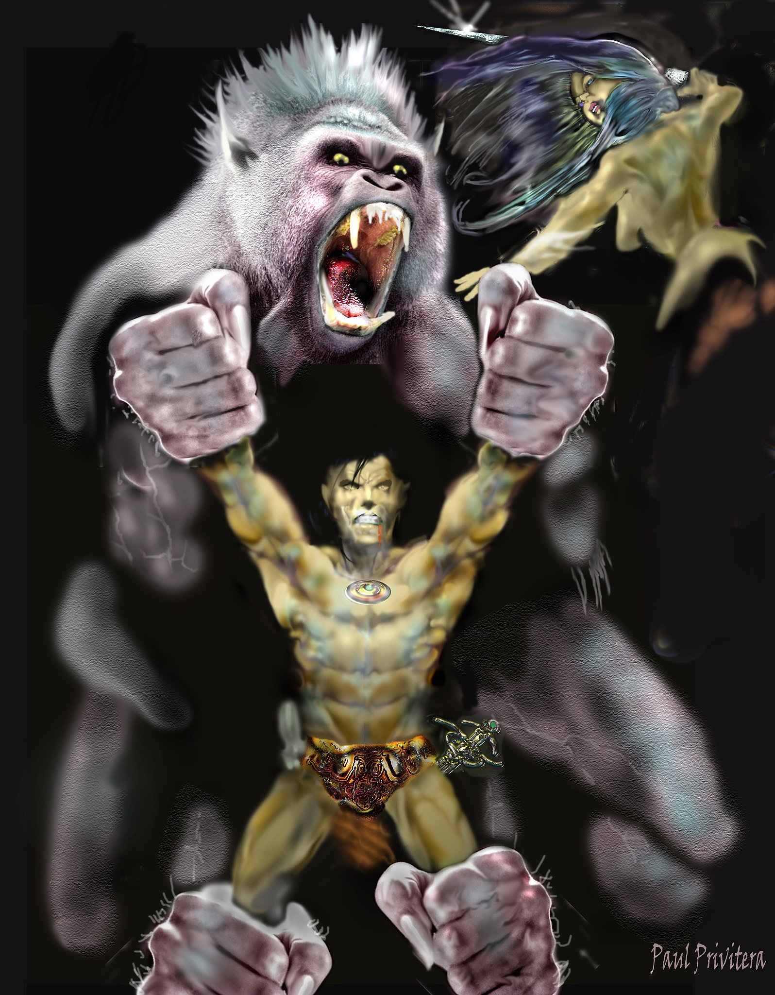 Vita apor får +2 på att greppa. Paul Privitera