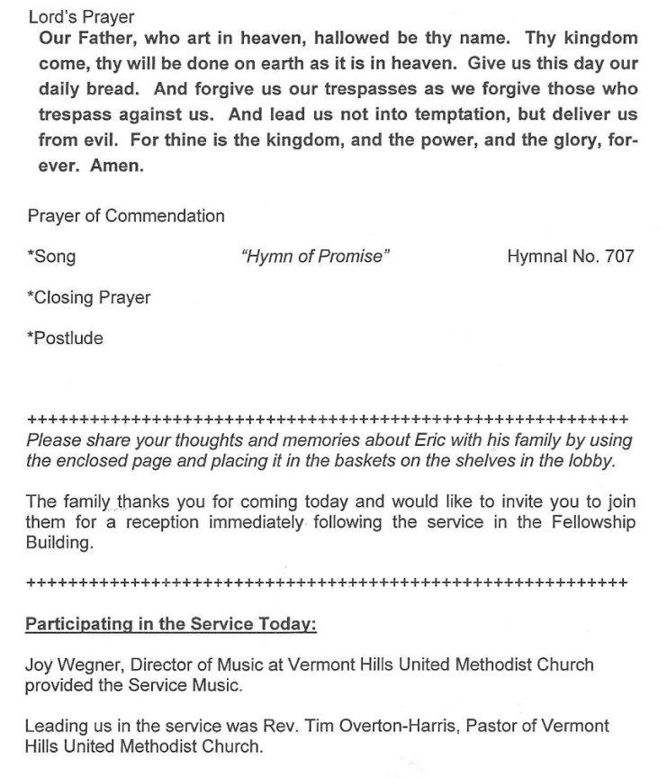 Erbzine 3149A: Church Programme