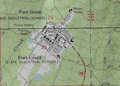 Map Of Arizona Prisons.Erbzine 3473 Fort Grant Photos