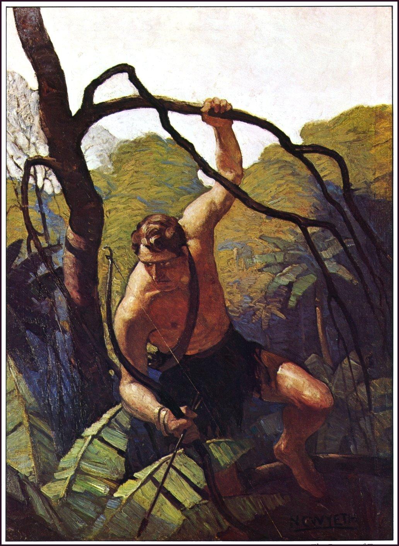 The Return of Tarzan Edgar Rice Burroughs and DJ is Illustrated