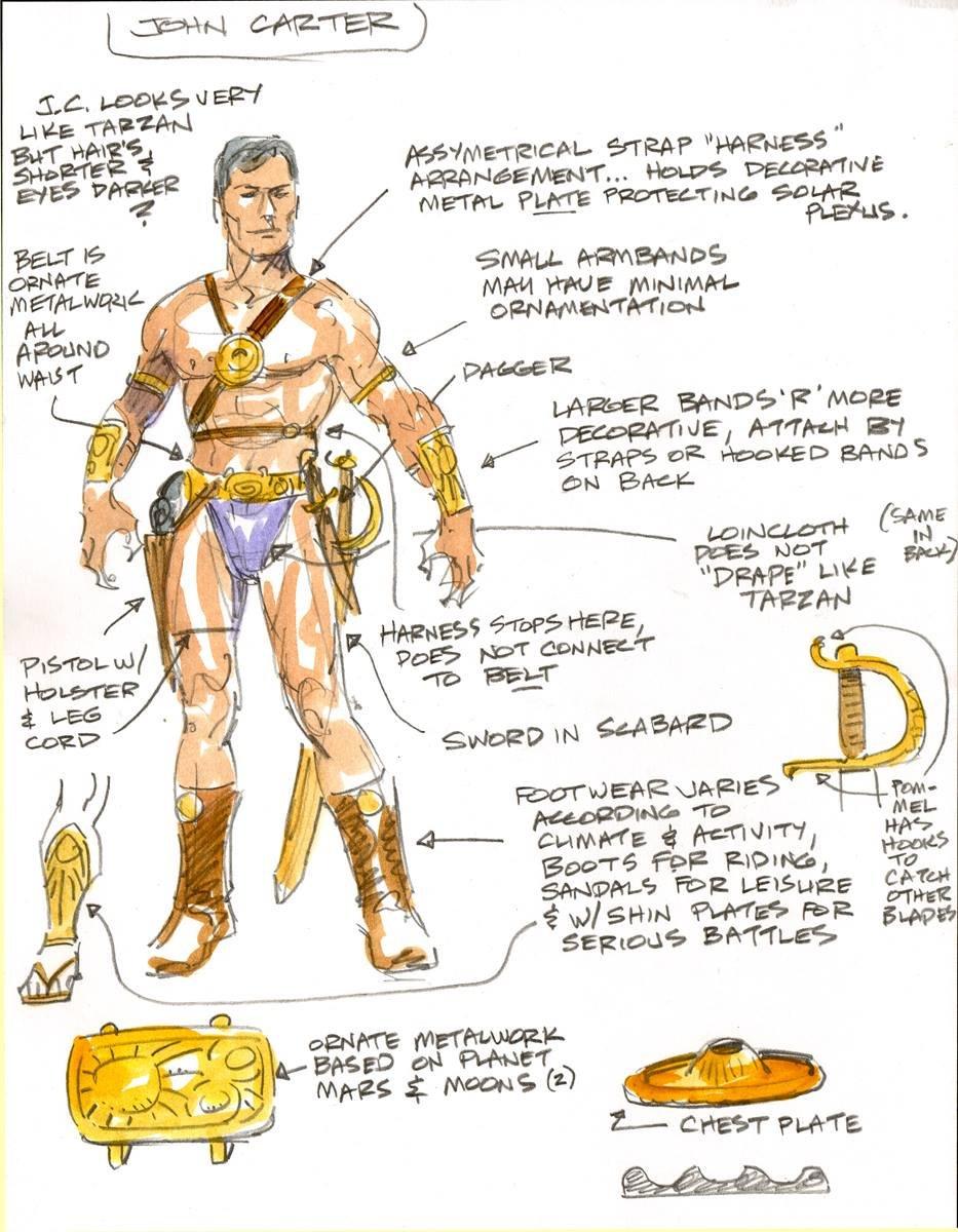 John Carter Character Design John Carter Character Design