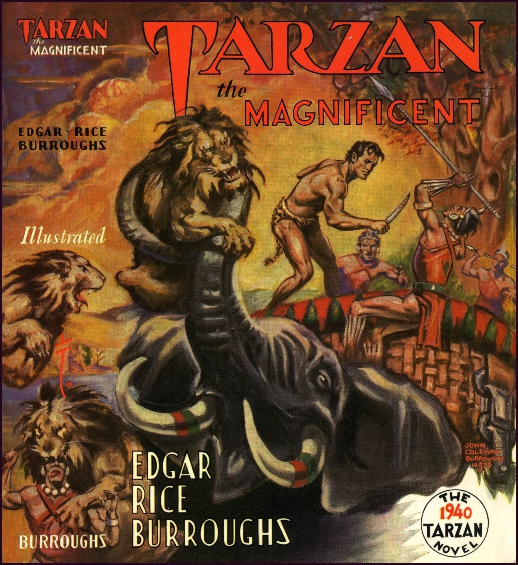 Erb Biblio 0728 Tarzan S The Magnificent