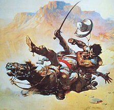 Frank Frazetta art for The Return of the Mucker